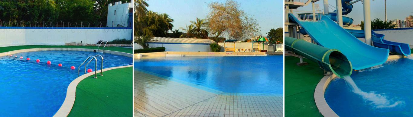 Swimming Pool At Al Nasr Leisureland The Biggest Swimming Pool Of The Uae